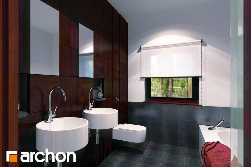 Проект дома ARCHON+ Дом под красной рябиной (Н) вер.2 визуализация ванной (визуализация 3 вид 1)