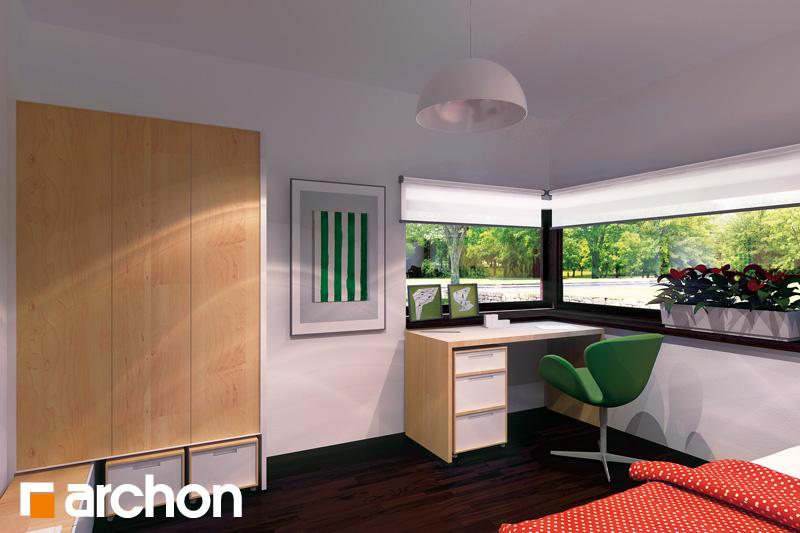 Проект дома ARCHON+ Дом под красной рябиной (Н) вер.2 ночная зона (визуализация 1 вид 1)