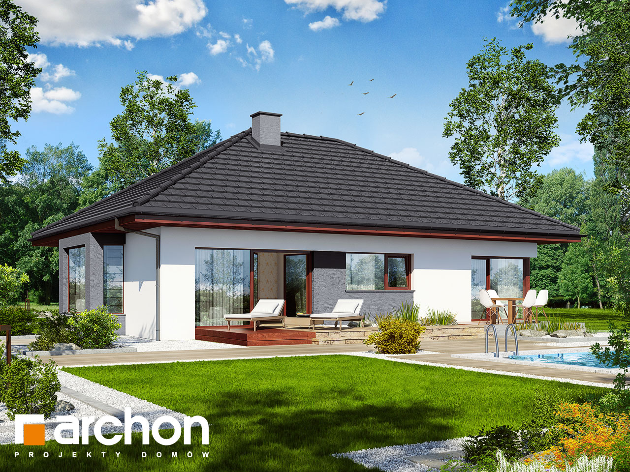 Проект дома ARCHON+ Дом под красной рябиной (Н) вер.2 Вид 2