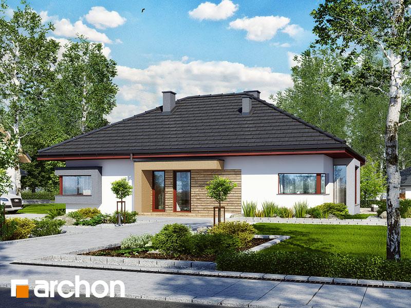 Проект дома ARCHON+ Дом под красной рябиной (Н) вер.2 Вид 1